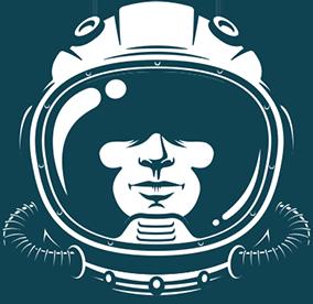 Astronaut face in helmet